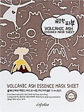 Profumi e cosmetici Maschera in tessuto con cenere vulcanica - Esfolio Pure Skin Volcanic Ash Essence Mask Sheet