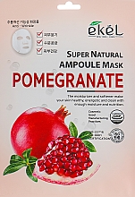 Profumi e cosmetici Maschera in tessuto all'estratto di melograno - Ekel Super Natural Ampoule Pomegrante