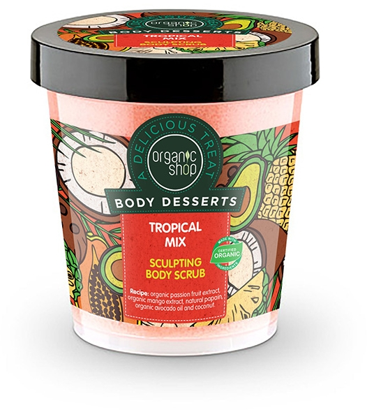 Scrub corpo anticellulite - Organic Shop Body Desserts Tropical mix