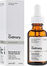 Profumi e cosmetici Siero con resveratrolo 3% + acido ferulico 3% - The Ordinary Resveratrol 3% + Ferulic Acid 3%
