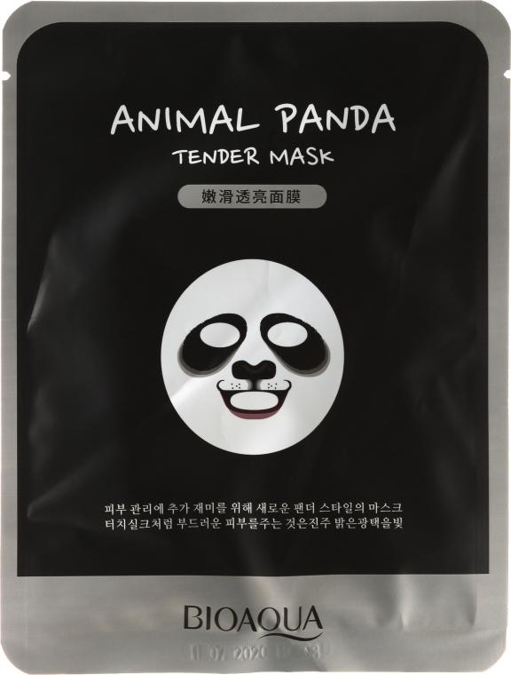 """Maschera in tessuto per viso a forma di animale """"Panda"""" - Bioaqua Animal Panda Tender Mask"""