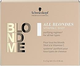 Profumi e cosmetici Concentrato di vitamina C per tutti i tipi di capelli - Schwarzkopf Professional Blondme All Blondes Vitamin C Shot