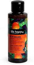 """Profumi e cosmetici Olio solare per corpo e capelli """"Mango e Carota Nera"""" - Bio Happy Hair & Body Tanning Oil Mango And Black Carrot"""