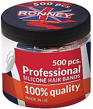 Profumi e cosmetici Elastici capelli, in silicone, neri - Ronney Professional Silicone Hair Bands
