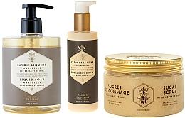 Profumi e cosmetici Set - Panier Des Sens Honey (scrab/300g + soap/500ml + b/cr/200ml)