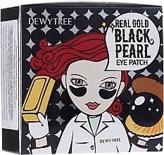 Profumi e cosmetici Patch occhi con estratto di oro e perle nere - Dewytree Real Gold Black Pearls Eye Patch