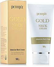 Profumi e cosmetici Crema collo e decolleté con oro - Petitfee & Koelf Gold Neck Cream