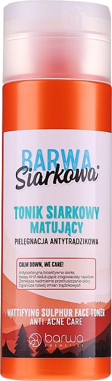 Tonico antibatterico per il viso - Barwa Anti-Acne Sulfuric Skin Tonic