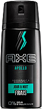 Profumi e cosmetici Deodorante-spray senza alluminio - Axe Apollo Daily Fragrance Deodorant Body Spray