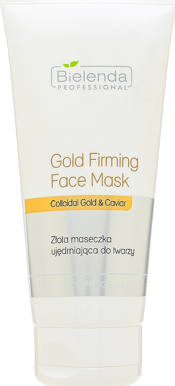 Maschera ringiovanente viso - Bielenda Professional Program Face Gold Firming Face Mask