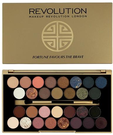 Palette di ombretti, 30 tonalità - Makeup Revolution Eyeshadow Palette Fortune Favours The Brave