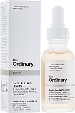 Profumi e cosmetici Peeling con acido lattico - The Ordinary Lactic Acid 10% + HA 2%