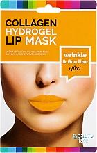 Profumi e cosmetici Maschera idrogel collagene per le labbra - Beauty Face Collagen Hydrogel Lip Mask Wrinkle Smooth Effect