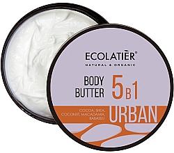 """Profumi e cosmetici Burro corpo 5 in 1 """"Cacao, karitè, cocco, macadamia, babassu"""" - Ecolatier Urban Body Butter"""