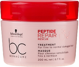 Profumi e cosmetici Maschera rigenerante per capelli danneggiati - Schwarzkopf Professional BC Bonacure Peptide Repair Rescue Treatment Mask