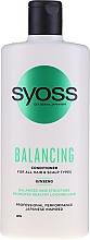Profumi e cosmetici Balsamo al ginseng per tutti i tipi di capelli e cuoio capelluto - Syoss Balancing Ginseng Conditioner