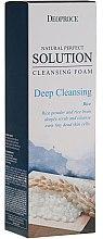 Profumi e cosmetici Scrub-schiuma viso - Deoproce Natural Perfect Solution Cleansing Foam Deep Cleansing Rice