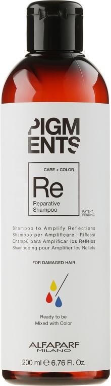 Shampoo per capelli danneggiati - Alfaparf Milano Pigments Reparative Shampoo — foto N1