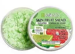 """Profumi e cosmetici Scrub per viso e corpo """"Pompelmo, lime e menta"""" - Nature of Agiva Roses Body Fruit Salad Nourishing Sugar Scrub"""