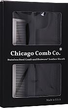 Profumi e cosmetici Spazzola per capelli - Chicago Comb Co Giftbox Model No. 3 RVS + Hoesje