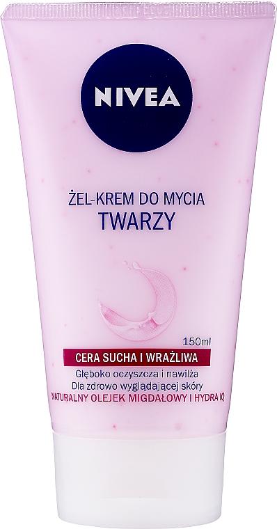 Crema-gel detergente delicato per pelle secca e sensibile - Nivea Visage Cleansing Soft Cream Gel