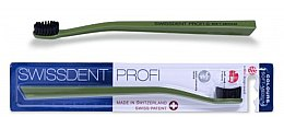 Profumi e cosmetici Spazzolino da denti, medio morbido, verde - SWISSDENT Profi Colours Soft-Medium Toothbrush Green&Black