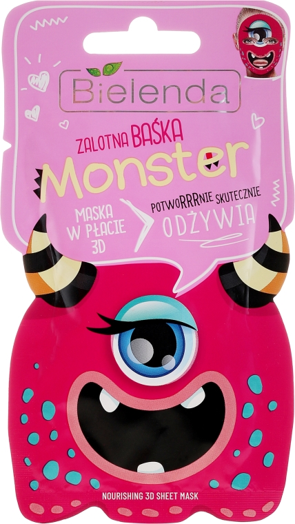 Maschera viso nutriente - Bielenda Monster 3D Fase Nourishing Mask
