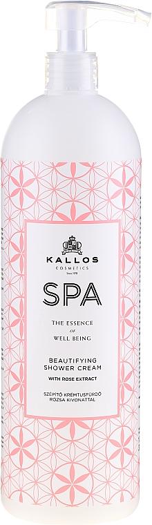 Gel doccia idratante, con estratto di rosa - Kallos Cosmetics Spa Beautifying Shower Cream