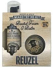 Profumi e cosmetici Set - Reuzel Wood and Spice Beard Try Me Kit (balm/35g + foam/70ml )