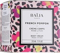 """Profumi e cosmetici Crema corpo """"Rosa e Litchi"""" - Baija French Pompon Rose Litchi Body Cream"""