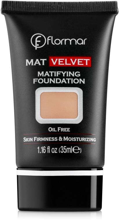 Fondotinta - Flormar Mat Velvet Matifying Foundation