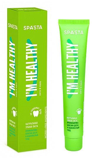 """Dentifricio naturale """"Prevenzione delle malattie gengivali e cure complesse"""" - Spasta I Am Healthy Toothpaste"""