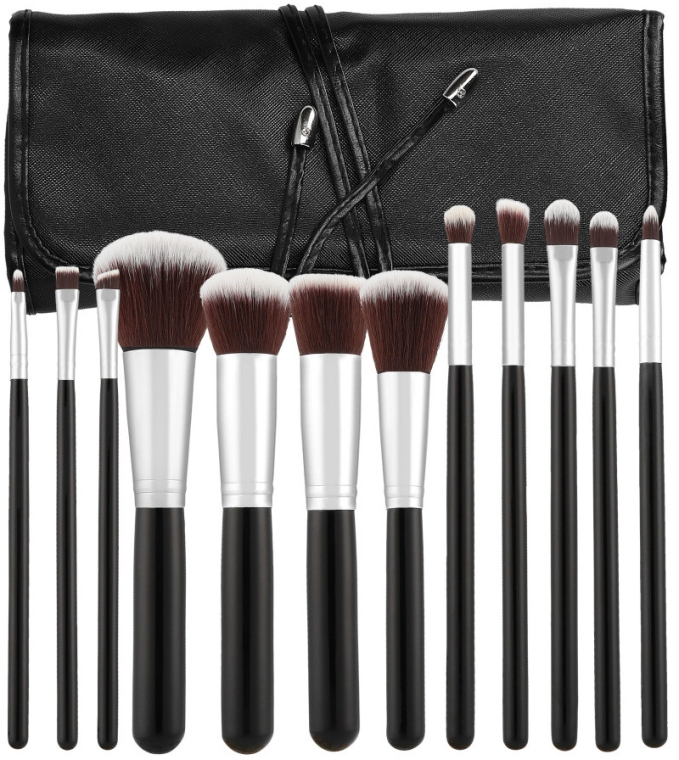 Set pennelli per trucco professionale, 12 pezzi - Tools For Beauty