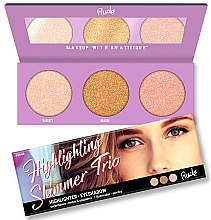 Profumi e cosmetici Palette illuminanti - Rude Cosmetics Highlighting Shimmer Trio