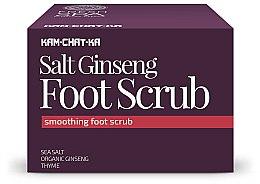 Profumi e cosmetici Scrub per i piedi - Natura Siberica Fresh Spa Kam-Chat-Ka Salt Ginseng Foot Scrub