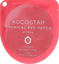 "Profumi e cosmetici Patch occhi in idrogel ""Frutti tropicali, Pitahaya"" - Kocostar Tropical Eye Patch Pitaya"