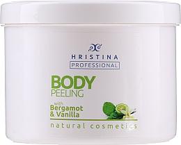 """Profumi e cosmetici Peeling corpo """"Bergamotto-Vaniglia"""" - Hristina Professional 100% Natural Bergamot&Vanilla Body Peeling"""