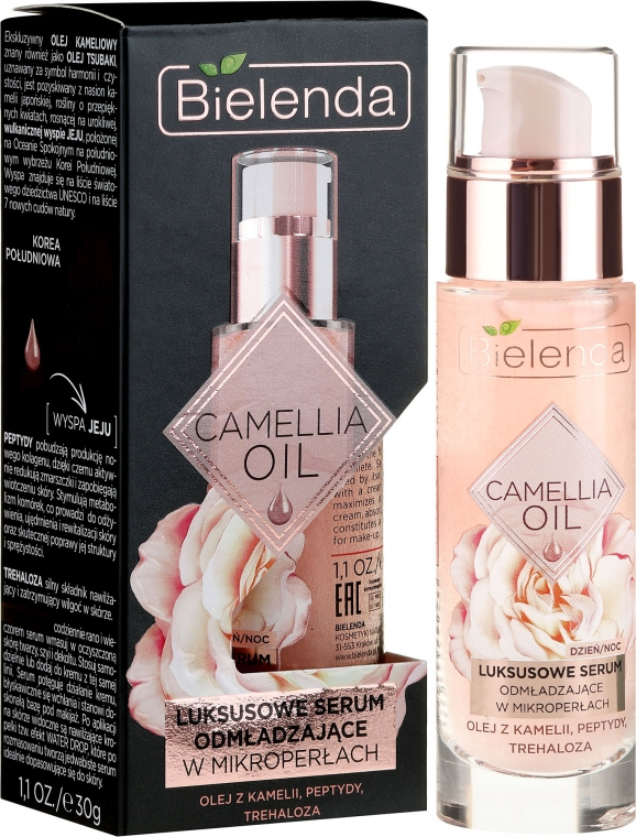 Siero viso anti-età - Bielenda Camellia Oil Luxurious Rejuvenating Serum