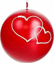 Profumi e cosmetici Candela decorativa a sfera rossa, 10 cm - Artman Forever