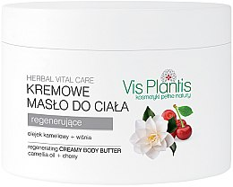 Profumi e cosmetici Burro corpo rigenerante - Vis Plantis Herbal Vital Care Creamy Body Butter Camellia Oil and Cherry