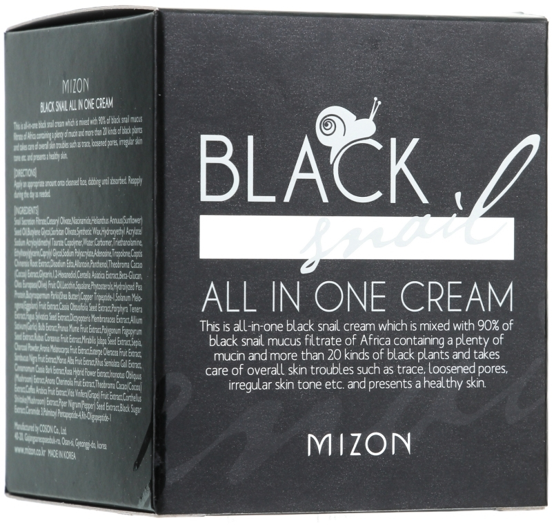 Crema con lumaca nera - Mizon Black Snail All In One Cream  — foto N2