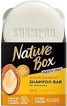 Profumi e cosmetici Shampoo solido nutriente all'olio di argan - Nature Box Nourishment Vegan Shampoo Bar With Cold Pressed Argan Oil