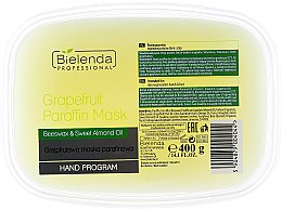 Profumi e cosmetici Maschera di paraffina con estratto di pompelmo - Bielenda Professional Grapefruit Paraffin Mask Beeswax & Almond Oil