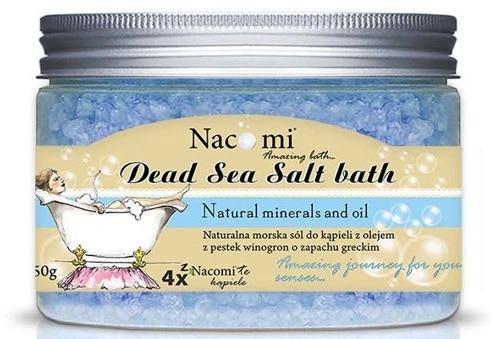 Sale da bagno del Mar Morto, con olio di semi d'uva - Nacomi Natural Greek Dead Sea Salt Bath — foto N2