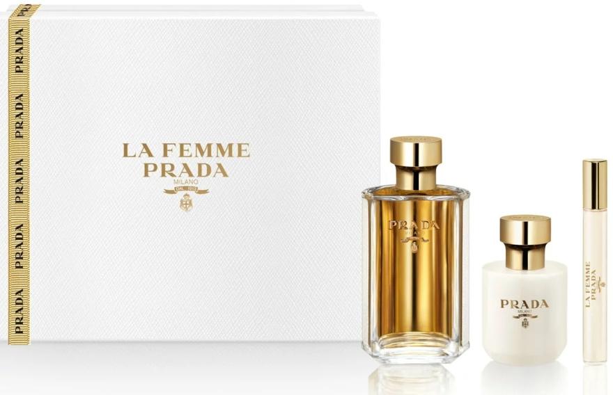 Prada La Femme Prada - Set (edp/100ml + b/lot/100ml + edp/roll/10ml) — foto N1