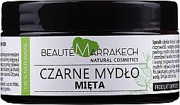 """Profumi e cosmetici Sapone nero naturale """"Menta"""" - Beaute Marrakech Savon Noir Moroccan Black Soap Mint"""