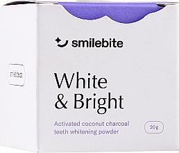 Profumi e cosmetici Polvere sbiancante per denti al carbone di cocco - Smilebite White & Brigh Coconut Charcoal Teeth Whitening Powder