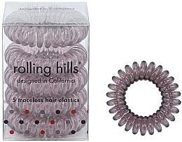 Profumi e cosmetici Elastici per capelli, trasparente-marrone - Rolling Hills 5 Traceless Hair Rings Transparent Brown