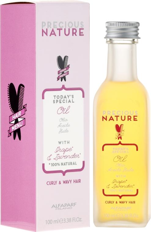 Olio ultra leggero per capelli ricci e mossi - Alfaparf Precious Nature Oil Curly & Wavy Hair Grape & Lavender
