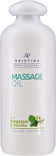 Profumi e cosmetici Olio da massaggio alla vaniglia e bergamotto - Hristina Professional Bergamot & Vanilla Massage Oil